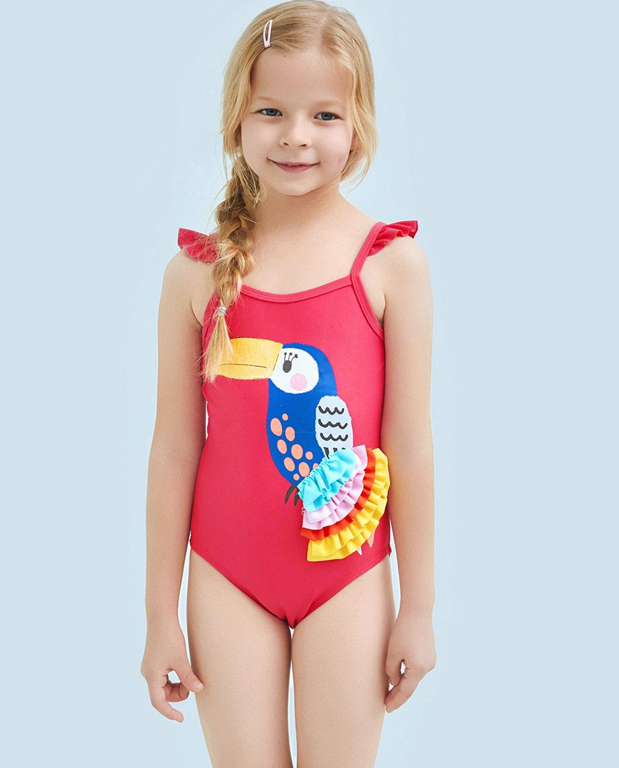 Aimer Kids泳衣|爱慕儿童雨林之歌连体泳衣AK1671583