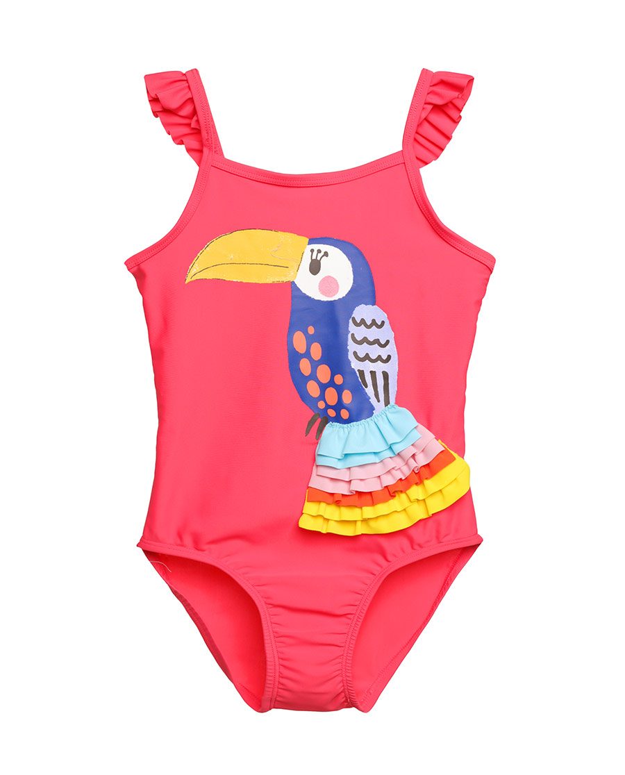 Aimer Kids泳衣|爱慕儿童雨林之歌连体泳衣AK167158