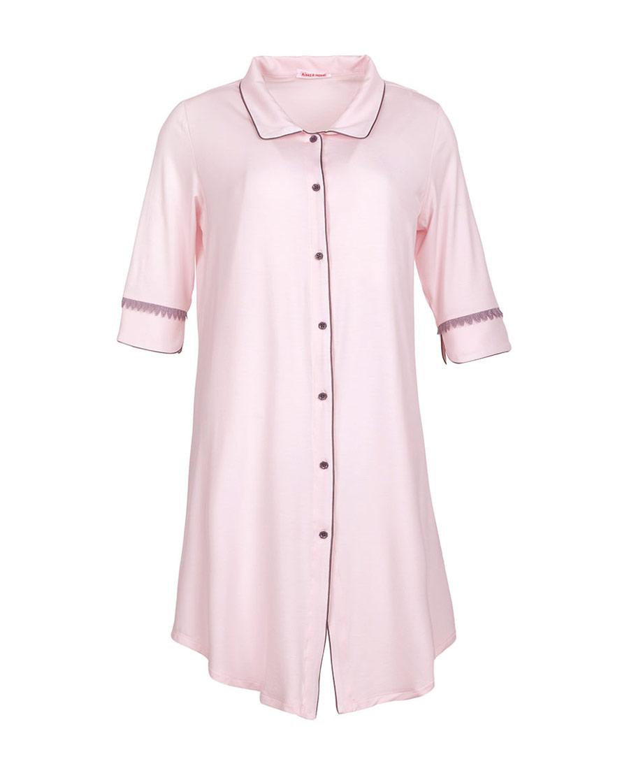 Aimer Home睡衣|爱慕家品柔姿琴享防蚊衬衫裙AH440421