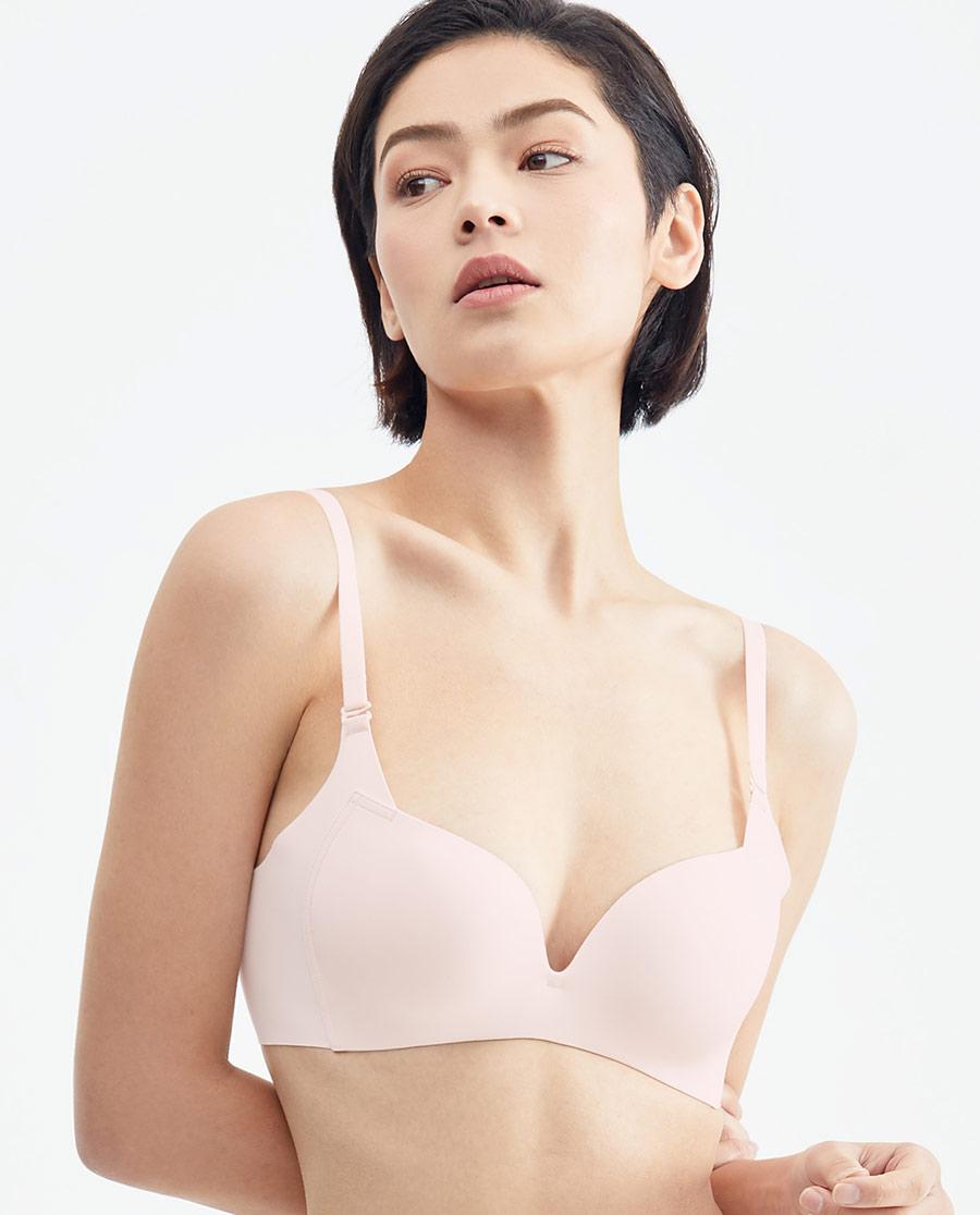 HUXI文胸 乎兮简约主义3/4无托薄连体杯文胸HX1