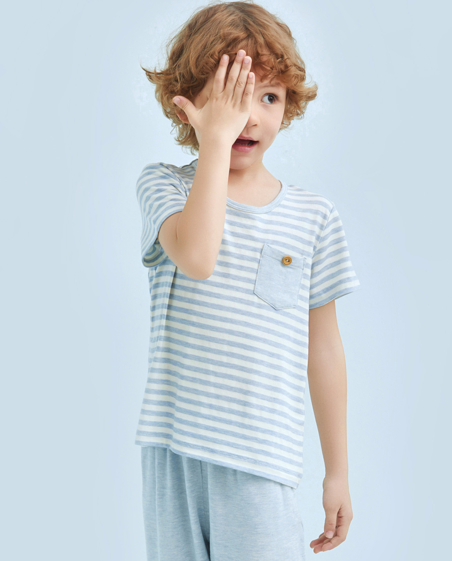 Aimer Kids睡衣|爱慕儿童开心宝贝短袖上衣AK241103