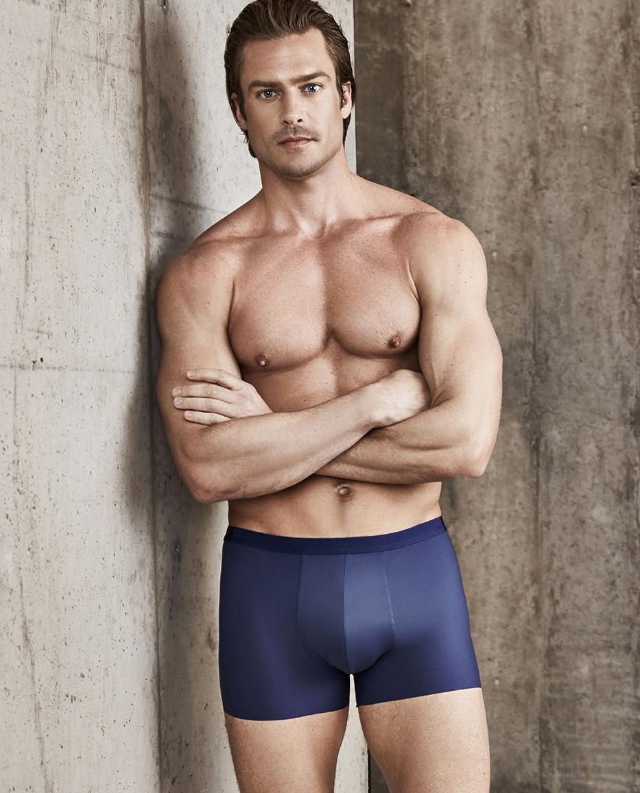 Aimer Men内裤|ag真人平台先生高端凉感中腰平角内裤NS23B662