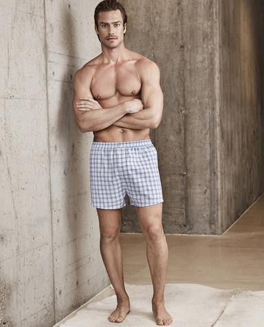 Aimer Men内裤|爱慕先生梭织四角裤包腰四角裤NS24B891