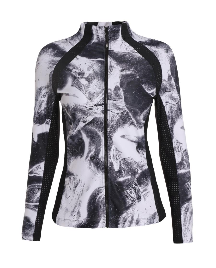 Aimer Sports运动装|爱慕运动星夜酷跑立领拉链外套AS144G13