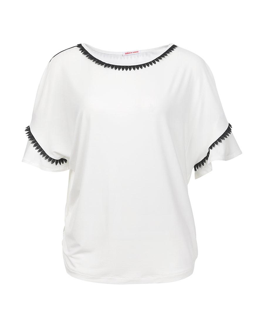 Aimer Home睡衣|爱慕家品柔姿琴享防蚊短袖上衣AH450421