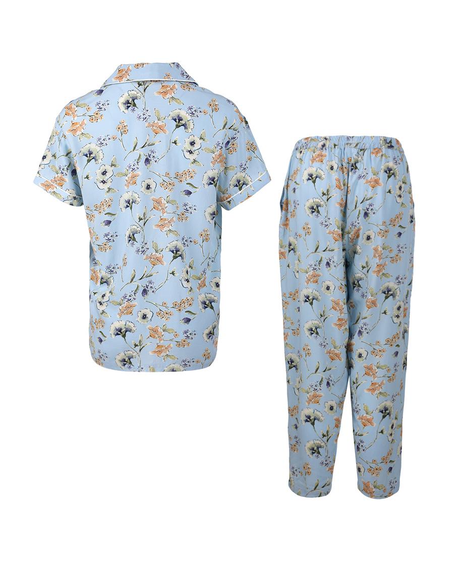 Aimer Home睡衣|爱慕家居沁幽兰香短袖分身家居套装AH460441