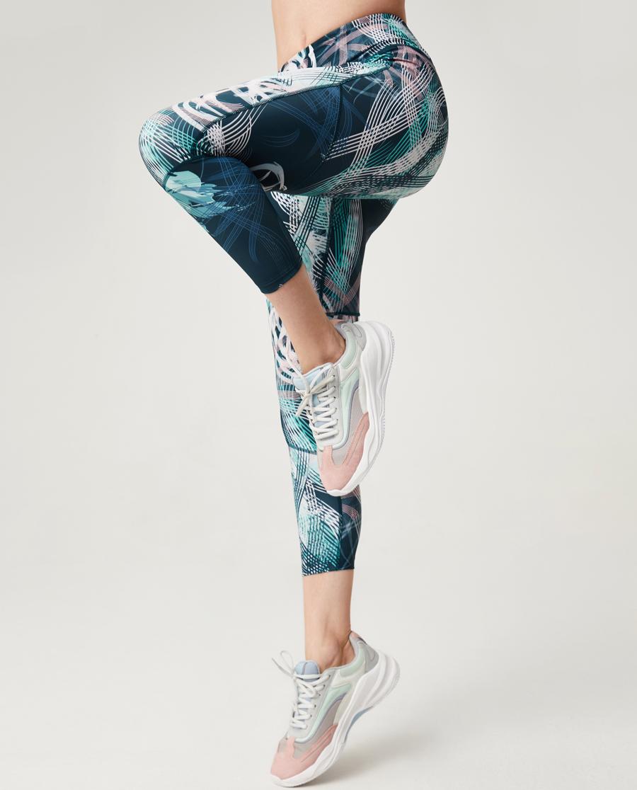 Aimer Sports运动装|爱慕运动iMOVE印花九分裤AS153G32