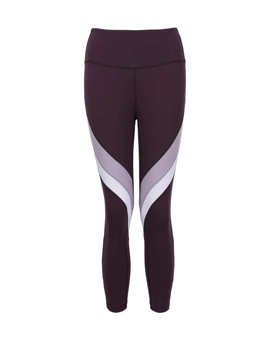 Aimer Sports运动装|爱慕运动轻松瑜伽拼接瑜伽八分裤AS153G42