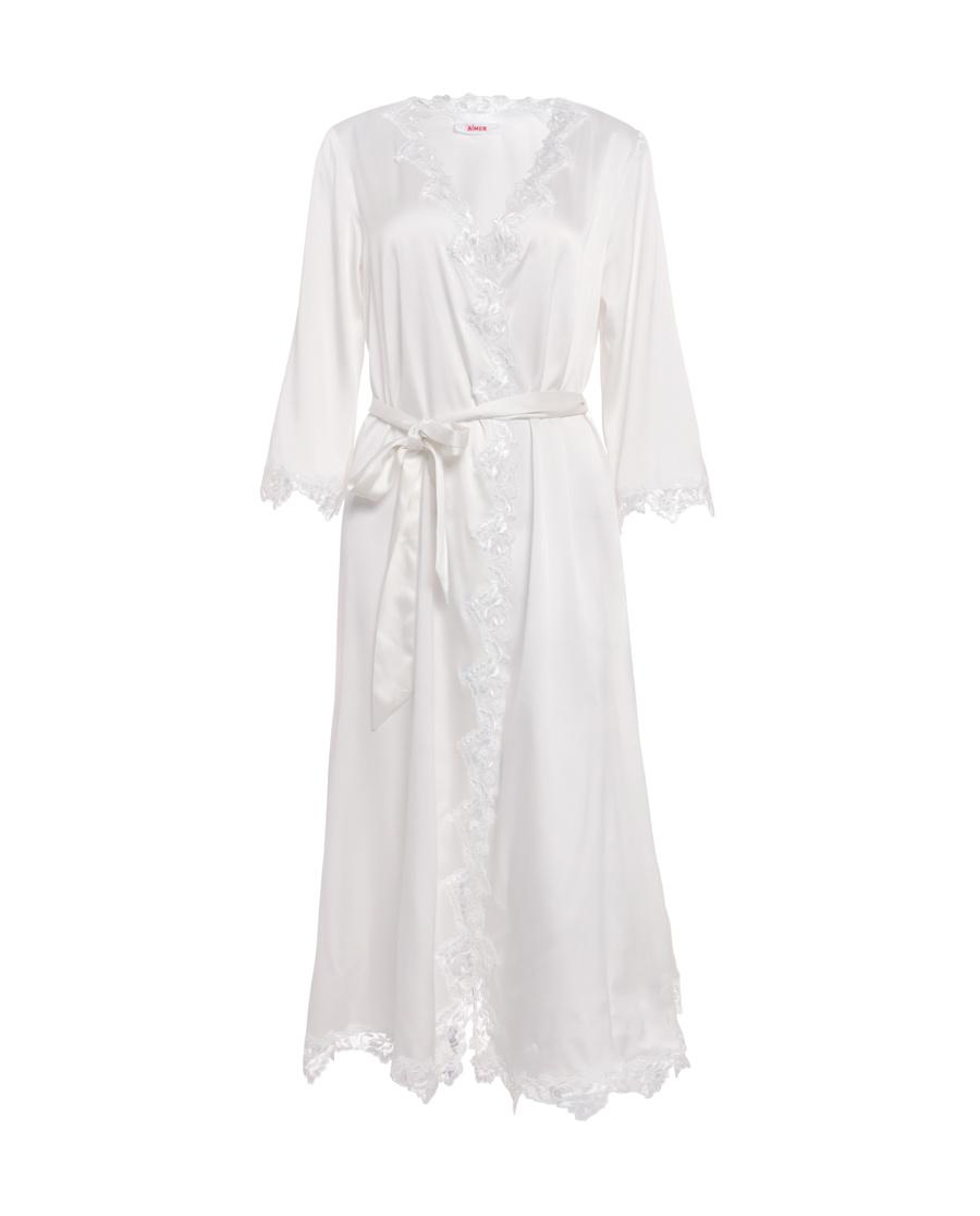 Aimer睡衣|爱慕悠闲假期长袖长款睡袍AM483081
