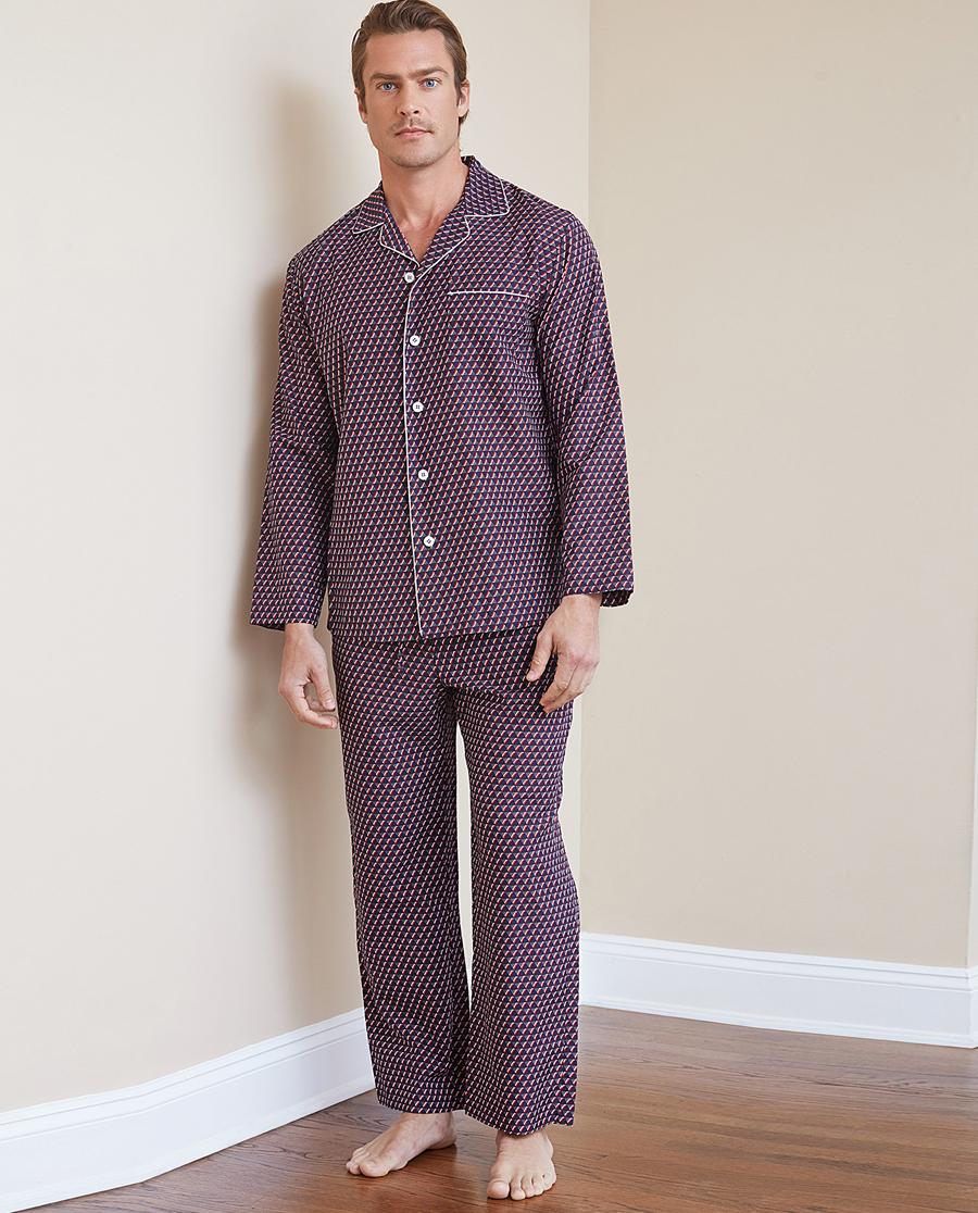 Aimer Men睡衣 ag真人平台先生温馨家人系列家居长裤NS42B941