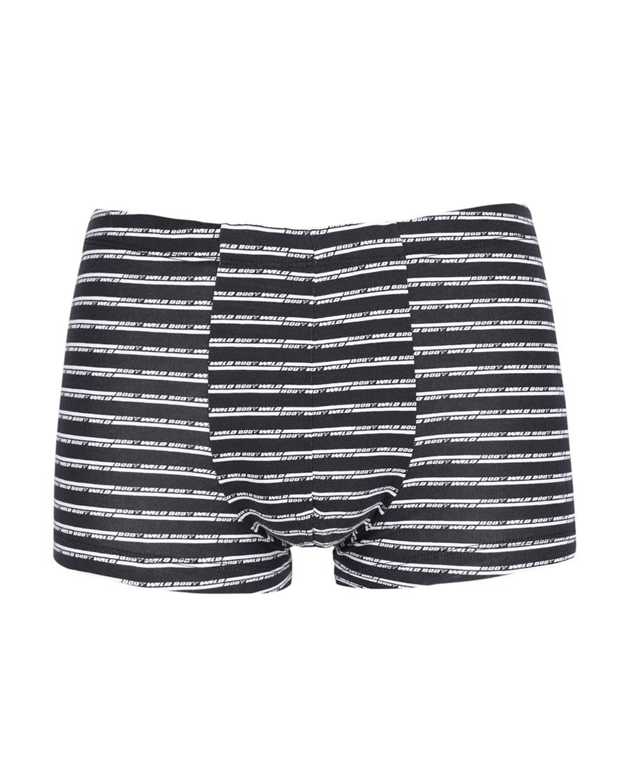 Body Wild内裤|宝迪威德棉氨印花字母条纹中腰平角内裤ZBN23NG2