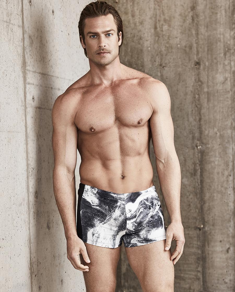 Aimer Men泳衣|爱慕先生19SS泳裤包腰平角内裤NS66C022