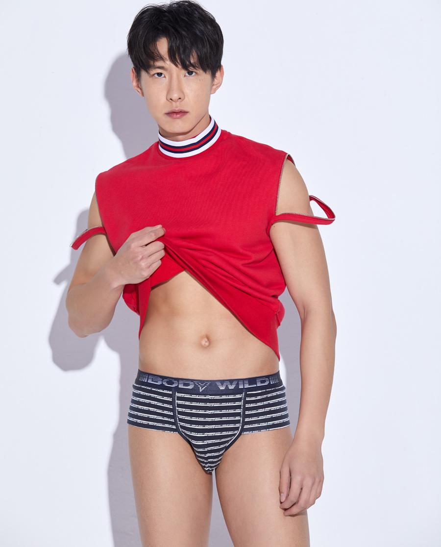 Body Wild内裤|宝迪威德炫色棉氨时尚中腰三角内裤ZBN2
