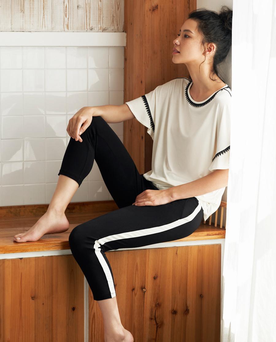 Aimer Home睡衣|爱慕家居柔姿琴享家居防蚊八分裤AH470421