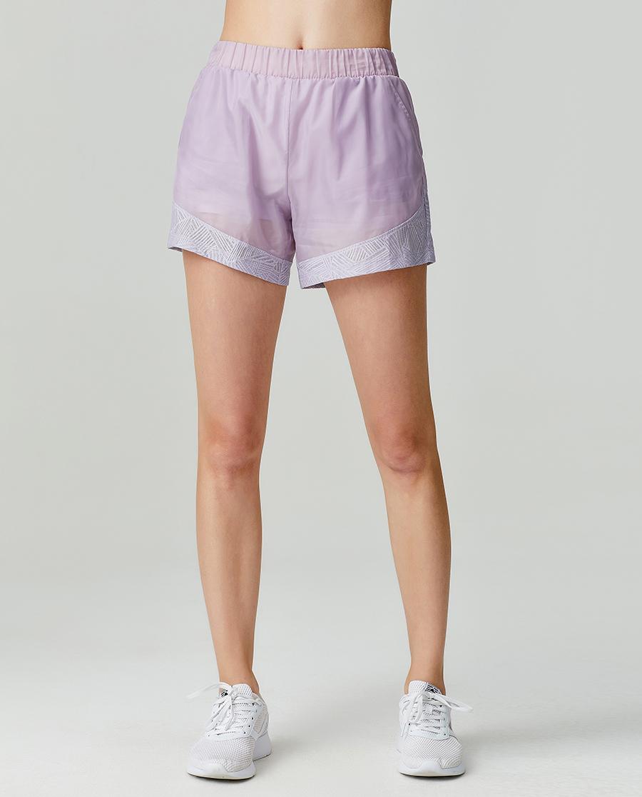 Aimer Sports运动装|爱慕运动轻松瑜伽短裤内外两件套AS151G41