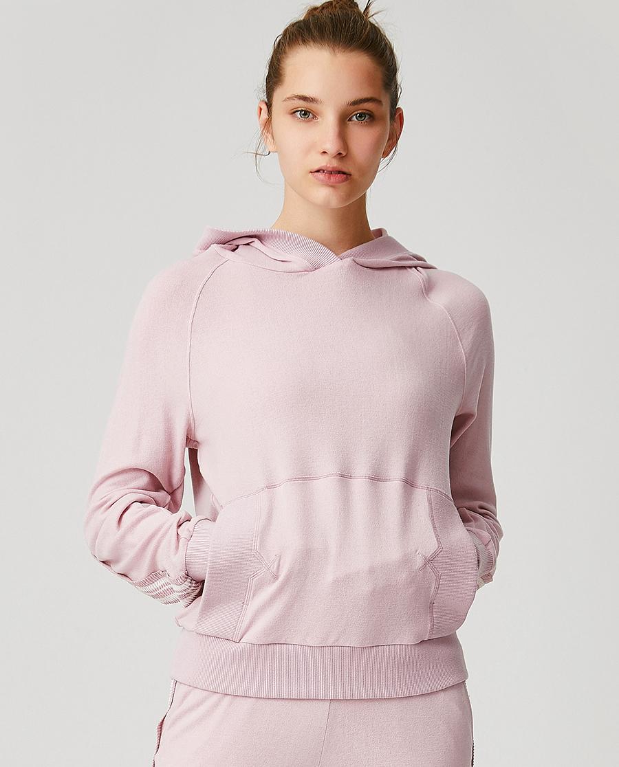 Aimer Sports睡衣|ag真人平台运动心灵瑜伽II带帽休闲上衣AS144G51