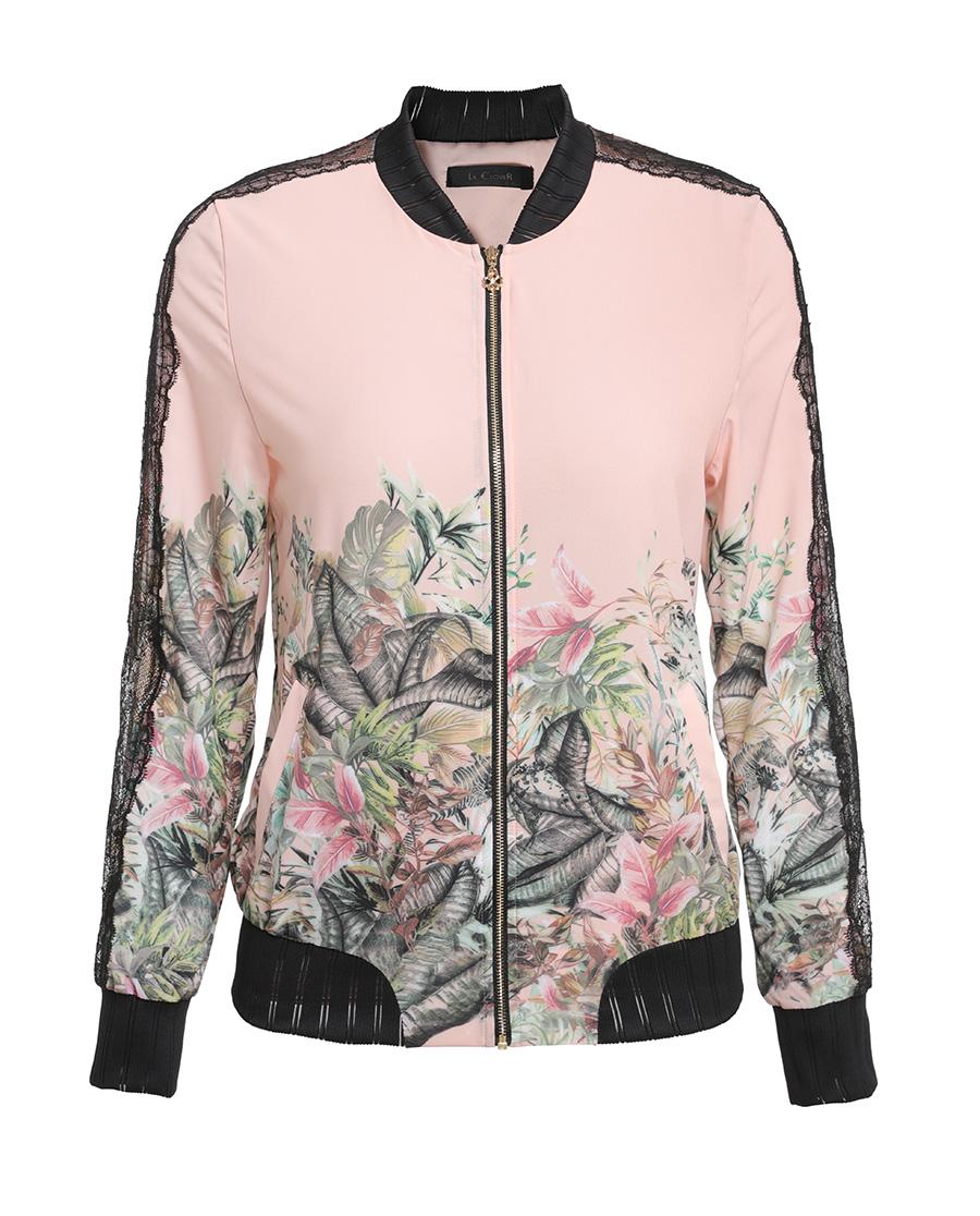 La Clover睡衣|LA CLOVER黑天鵝運動長袖夾克衫L