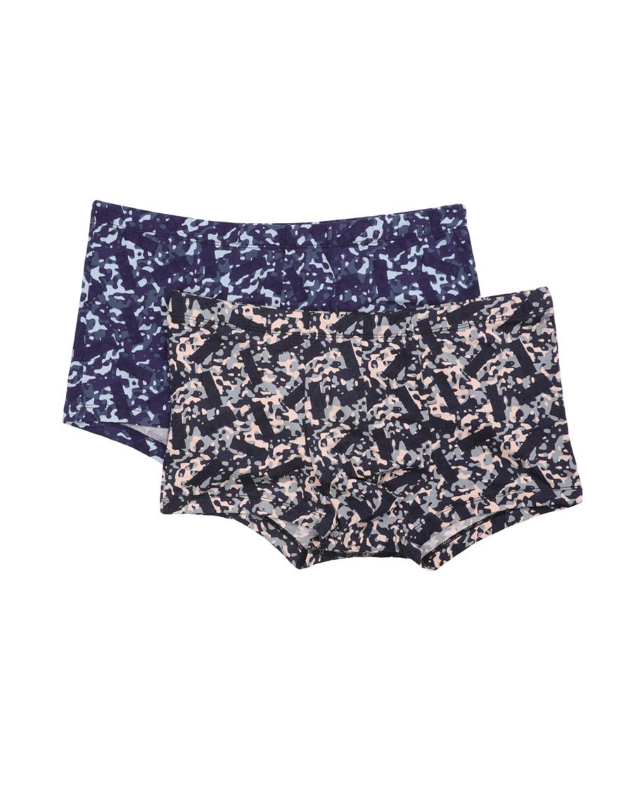 Body Wild内裤|宝迪威德莫代尔印花迷彩中腰平角内裤两件包ZBN23NH1