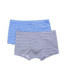 宝迪威德棉氨印花数码字母中腰平角内裤两件包ZBN23NG1
