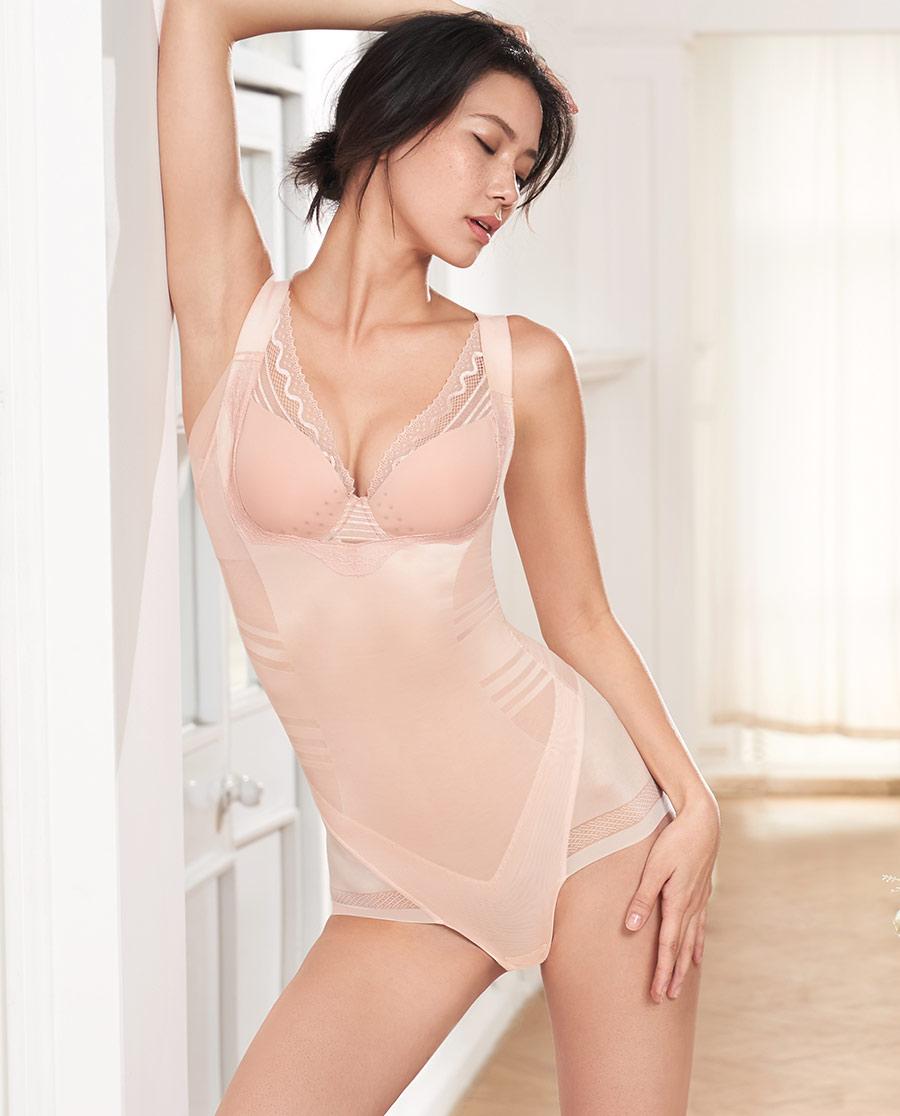 MODELAB美体|爱慕慕澜魅力约定中型连体平角美体衣AD3