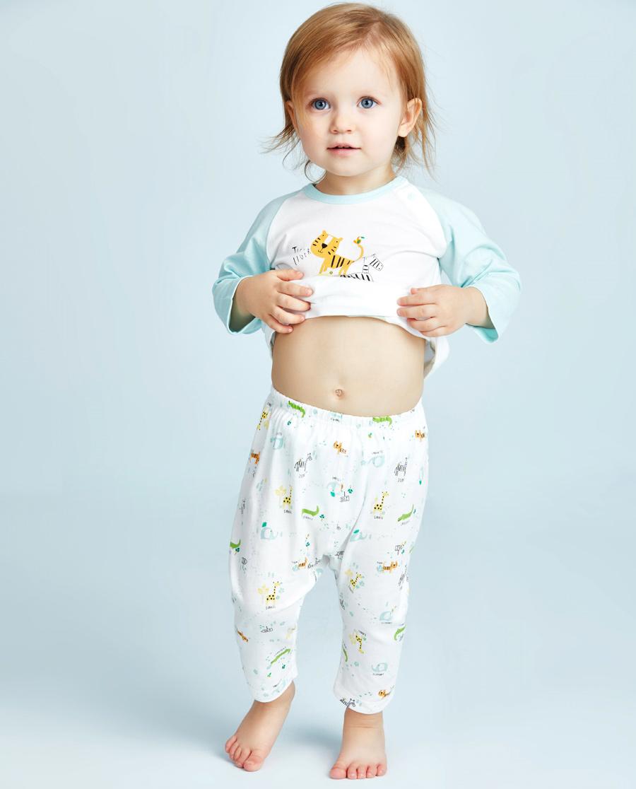 Aimer Baby睡衣 爱慕婴幼动物园七分大屁屁裤AB24210