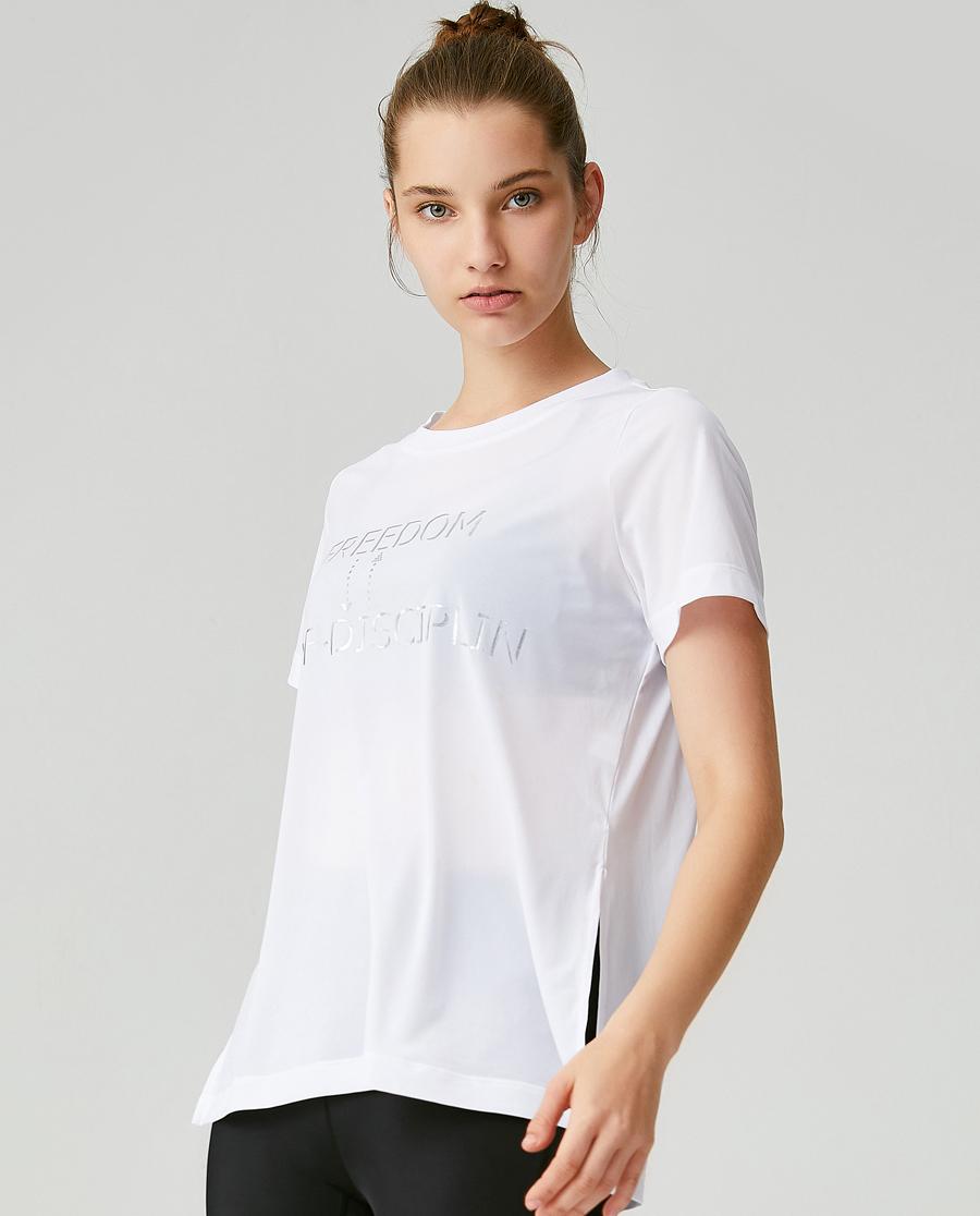 Aimer Sports运动装 爱慕运动甩甩穿短袖T恤AS143G71