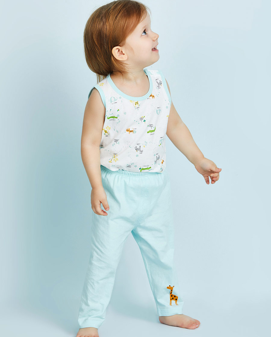 Aimer Baby保暖|爱慕婴幼动物园两用裆长裤AB273108