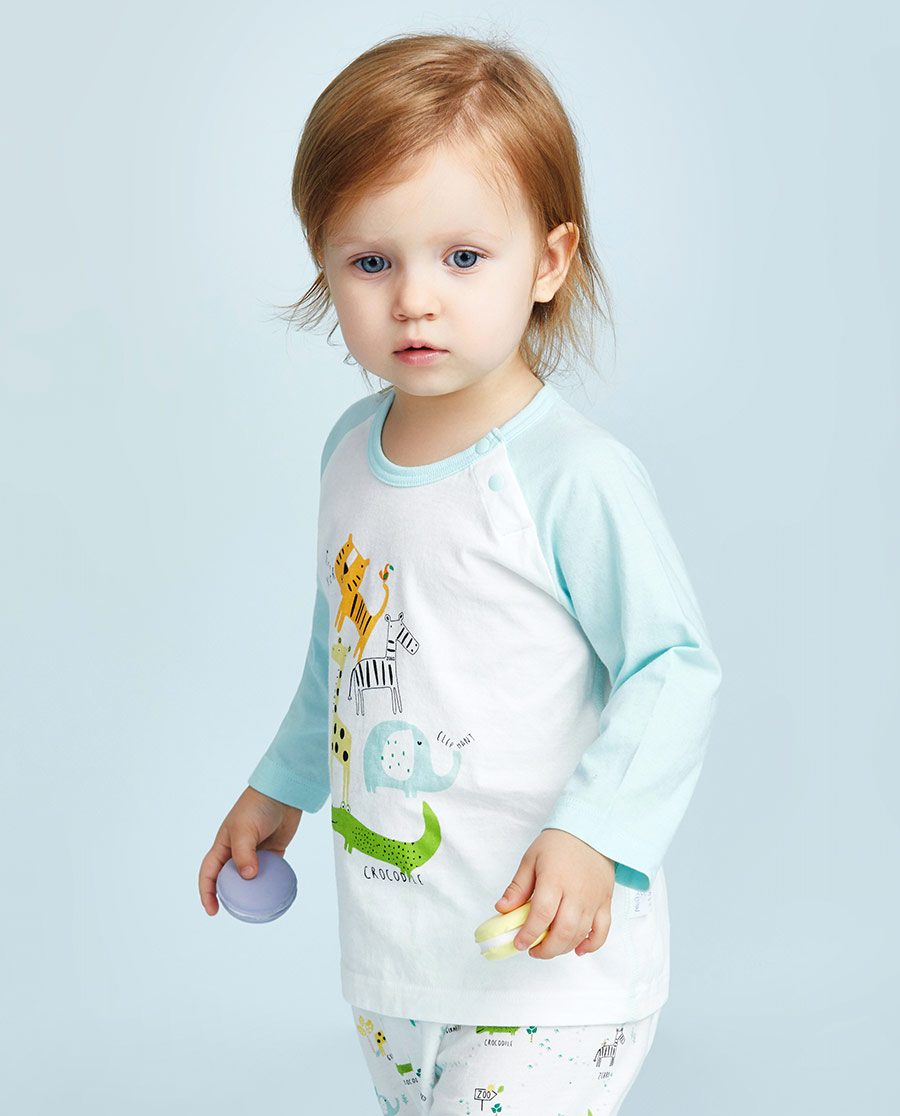 Aimer Baby保暖|爱慕婴幼动物园套头长袖上衣AB27210