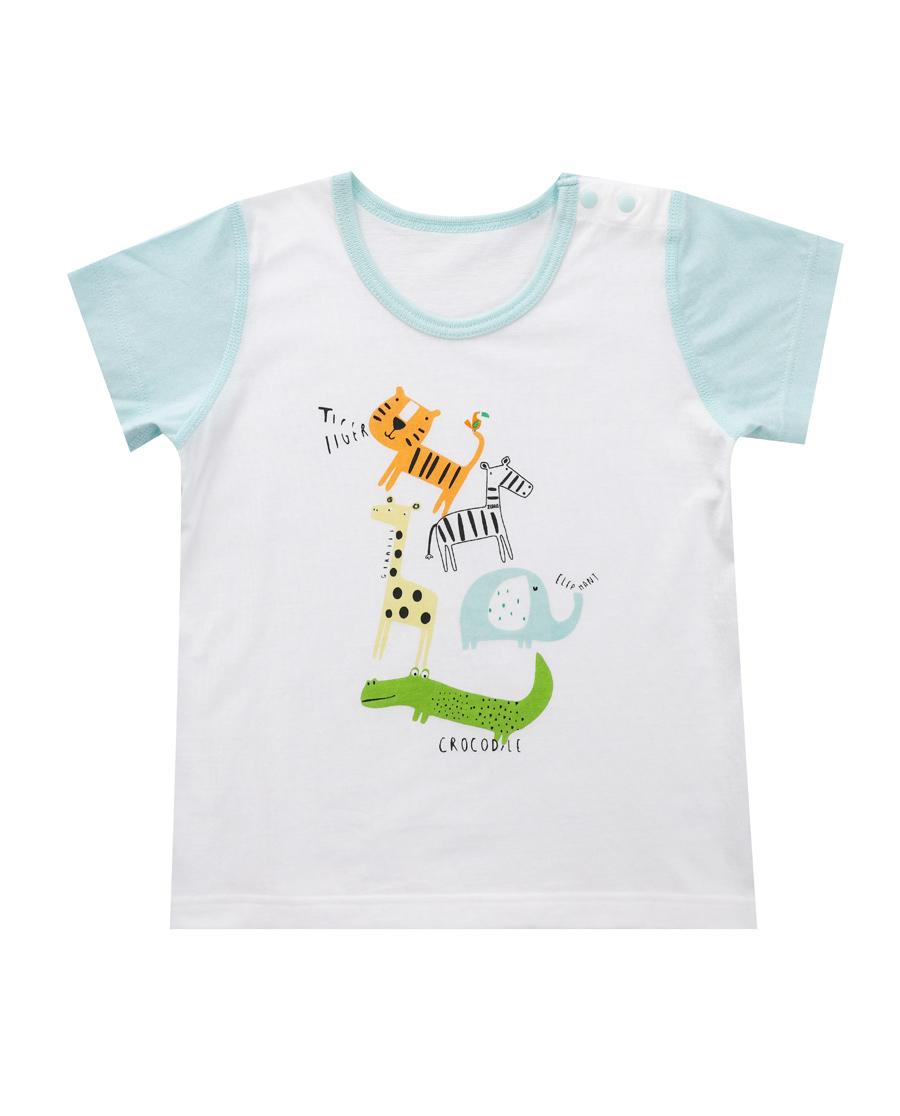Aimer Baby睡衣 爱慕婴幼动物园家居短袖上衣AB24110