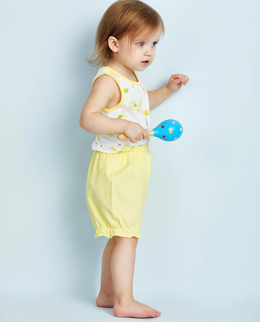 Aimer Baby睡衣|爱慕婴幼快乐柠檬女婴幼短裤两件包AB1421051