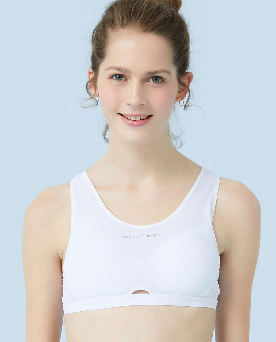 Aimer Junior文胸|ag真人平台少年运动呵护背心式运动无托文胸AJ1150821