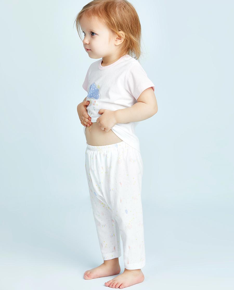 Aimer Baby睡衣|爱慕婴儿小兔子拔萝卜女幼婴七分大屁屁裤AB1421071