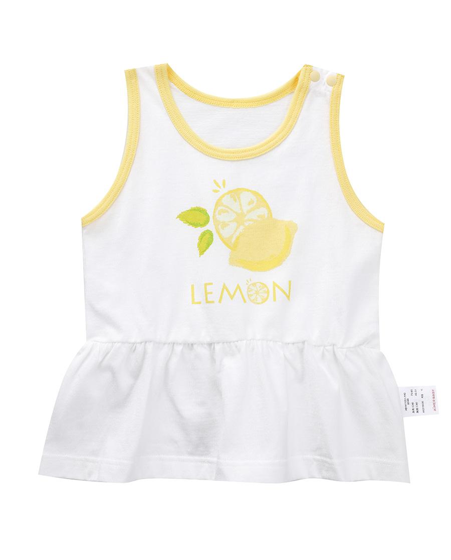 Aimer Baby睡衣 爱慕婴幼快乐柠檬女婴幼背心两件包AB14
