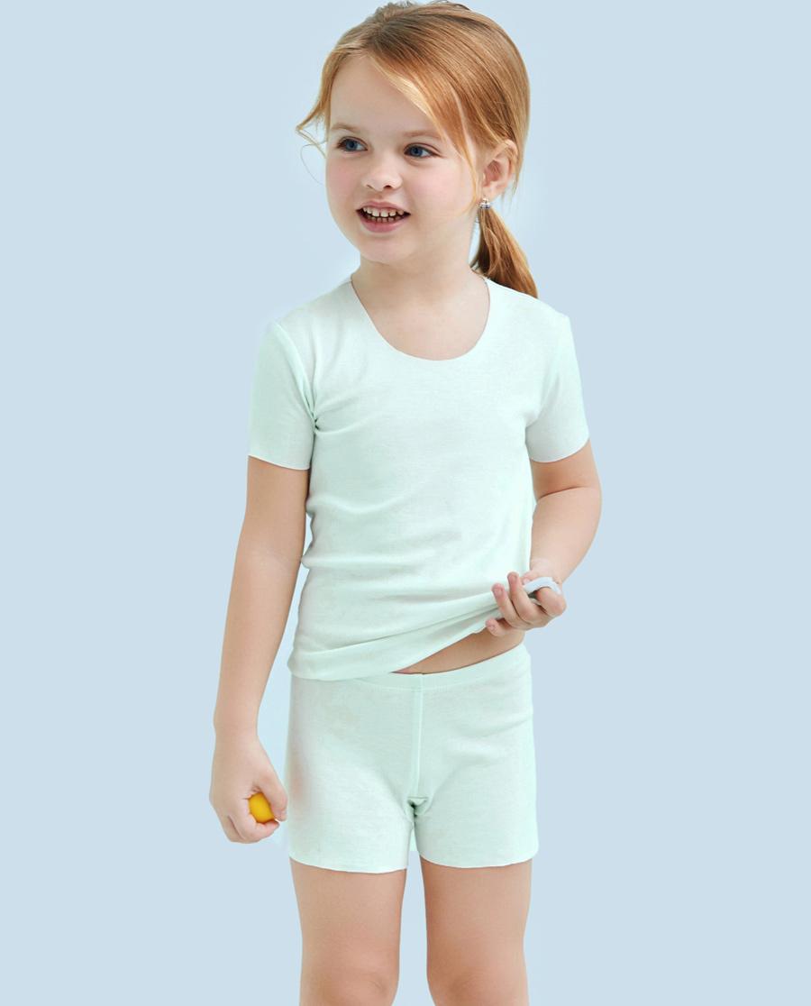 Aimer Kids内裤|ag真人平台儿童棉感女童安全裤AK1240991