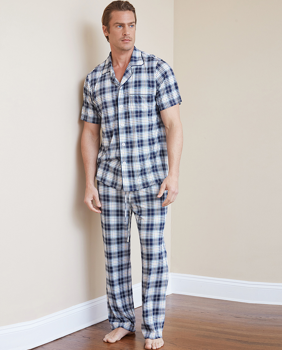 Aimer Men睡衣|ag真人平台先生纵享丝滑家居长裤NS42C092