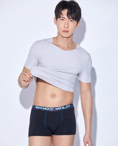 Body Wild内裤|宝迪威德炫色棉氨撞色中腰平角内裤两件包ZBN23NJ1