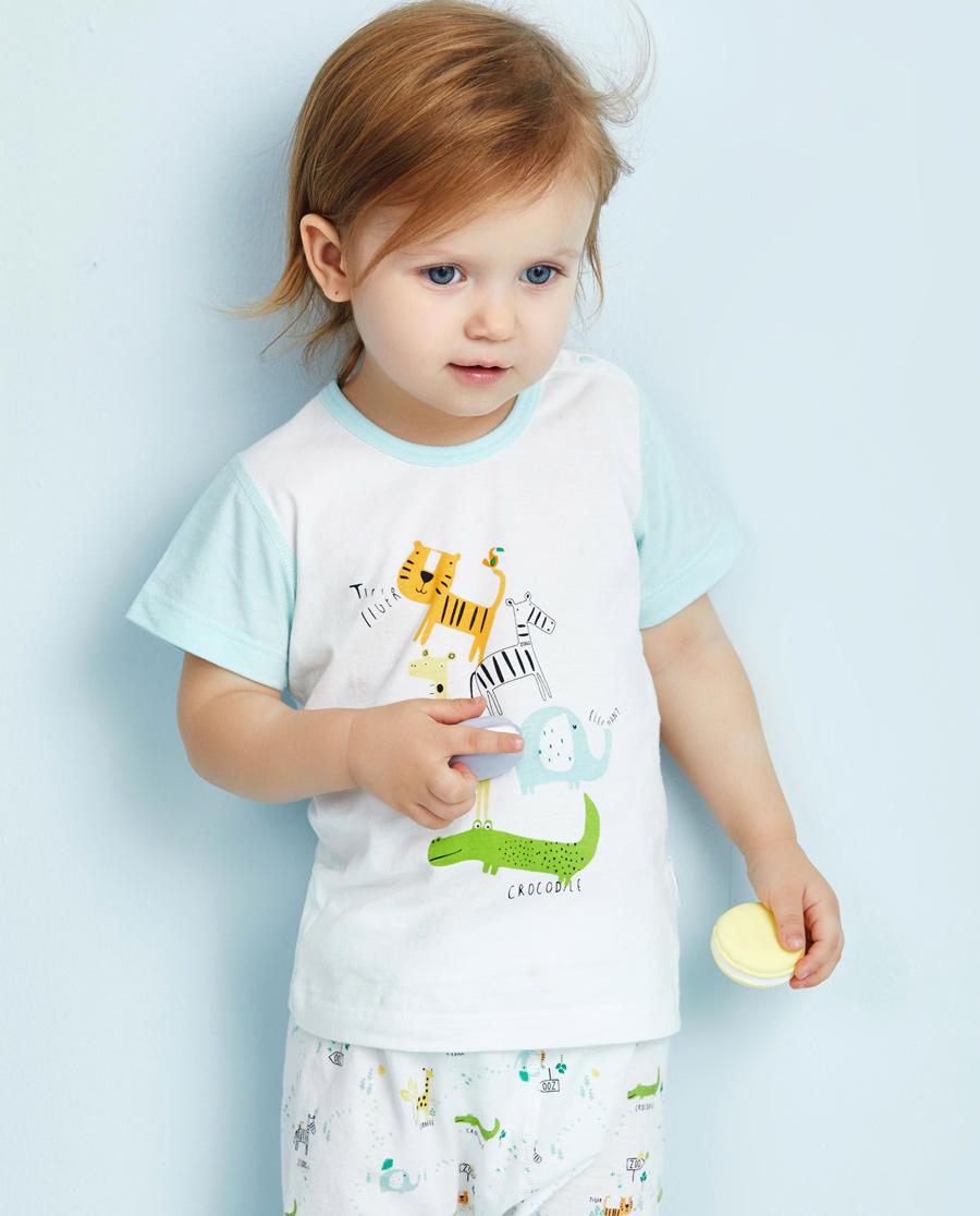 Aimer Baby睡衣|爱慕婴幼动物园家居短袖上衣AB2411081
