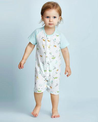 Aimer Baby保暖|爱慕婴幼动物园短袖短裤连体爬服AB2751081