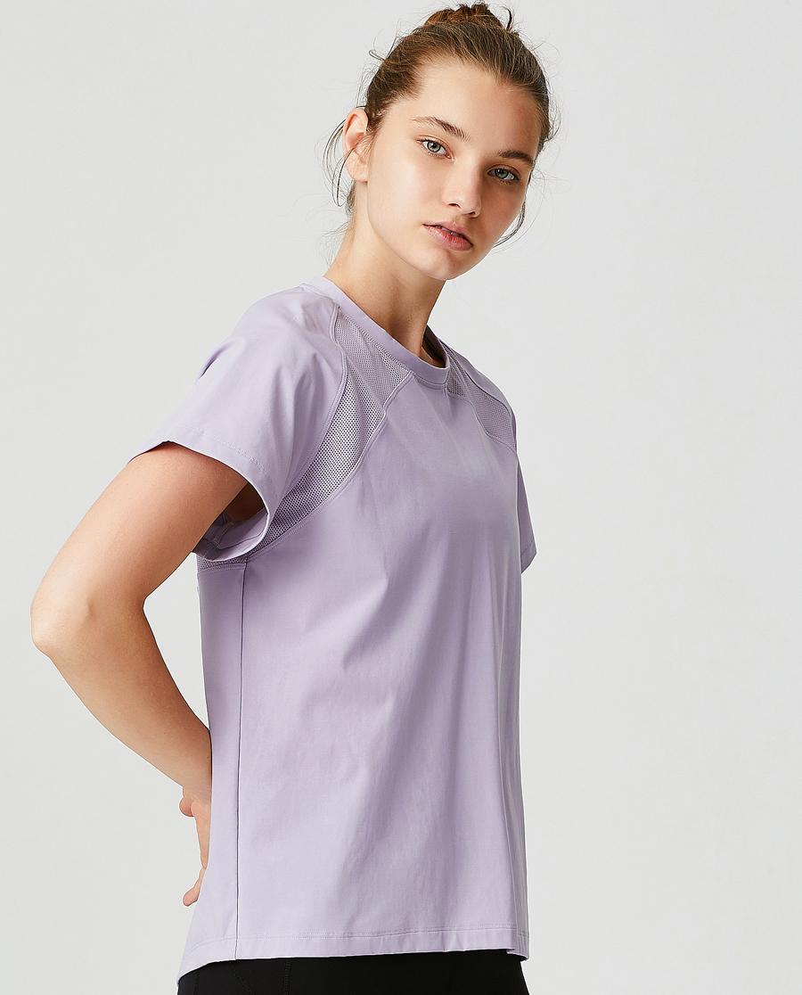 Aimer Sports运动装|ag真人平台运动轻松瑜伽瑜伽短袖T恤AS143G42