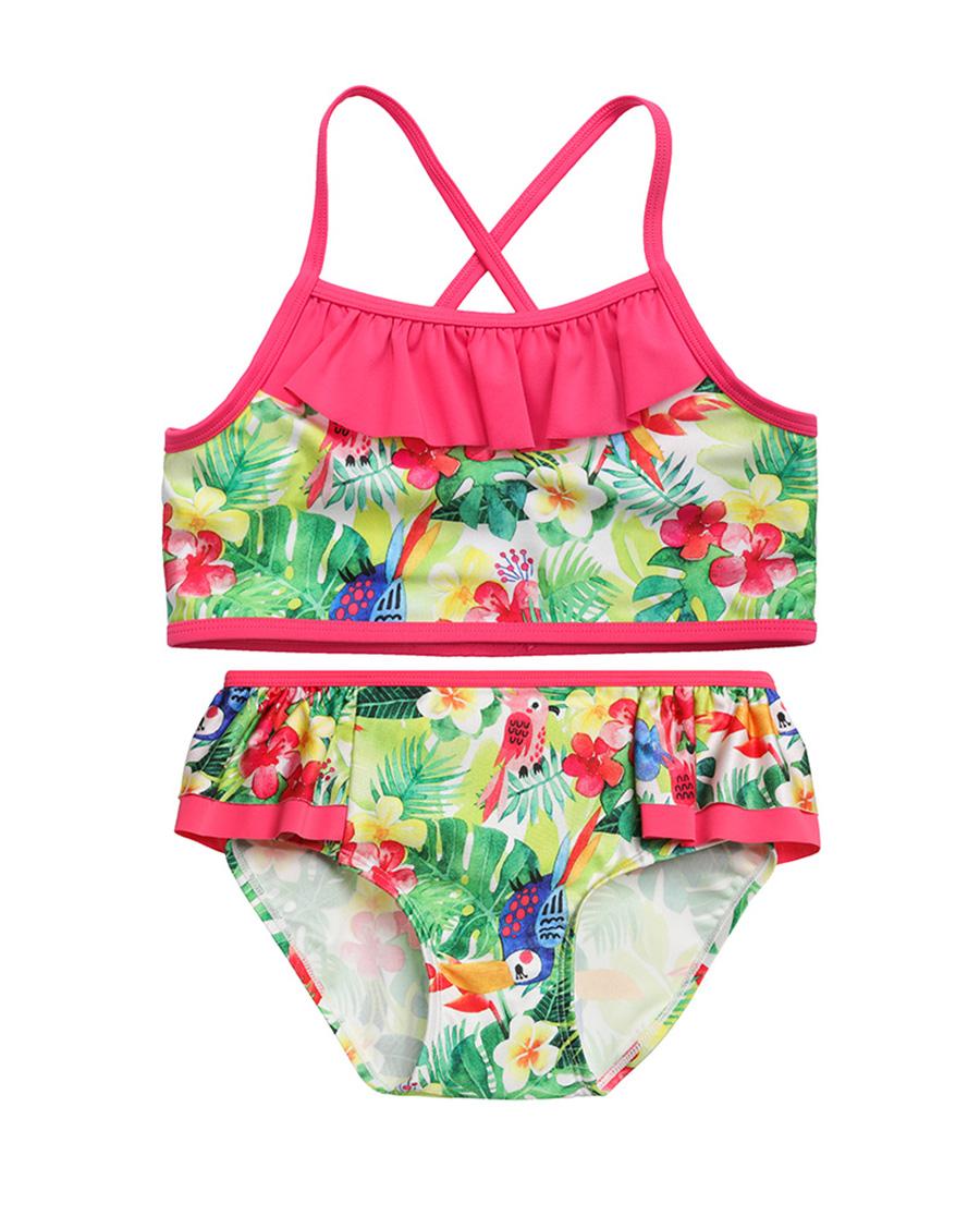 Aimer Kids泳衣|爱慕儿童雨林之歌分身泳衣AK167158