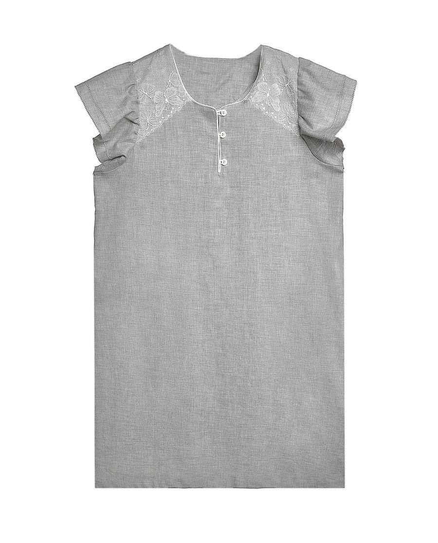 Aimer Kids睡衣|爱慕儿童小禅茶语短袖中款睡裙AK1440861