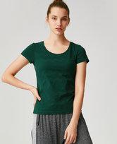 爱慕运动心灵瑜伽II带杯瑜伽短袖T恤AS143G52