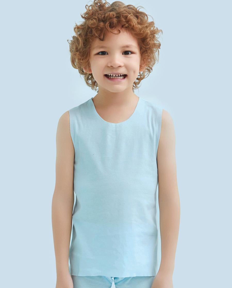 Aimer Kids睡衣|爱慕儿童棉感男童宽肩背心AK2110991