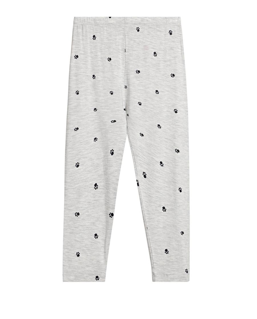 爱慕儿童印花打底裤系列小爪印七分打底裤AK1821511