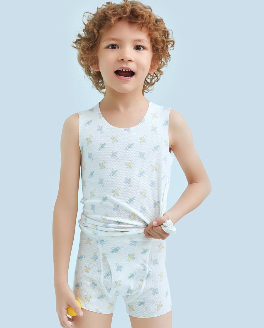 Aimer Kids内裤|爱慕儿童小飞机中腰平角内裤AK2231181