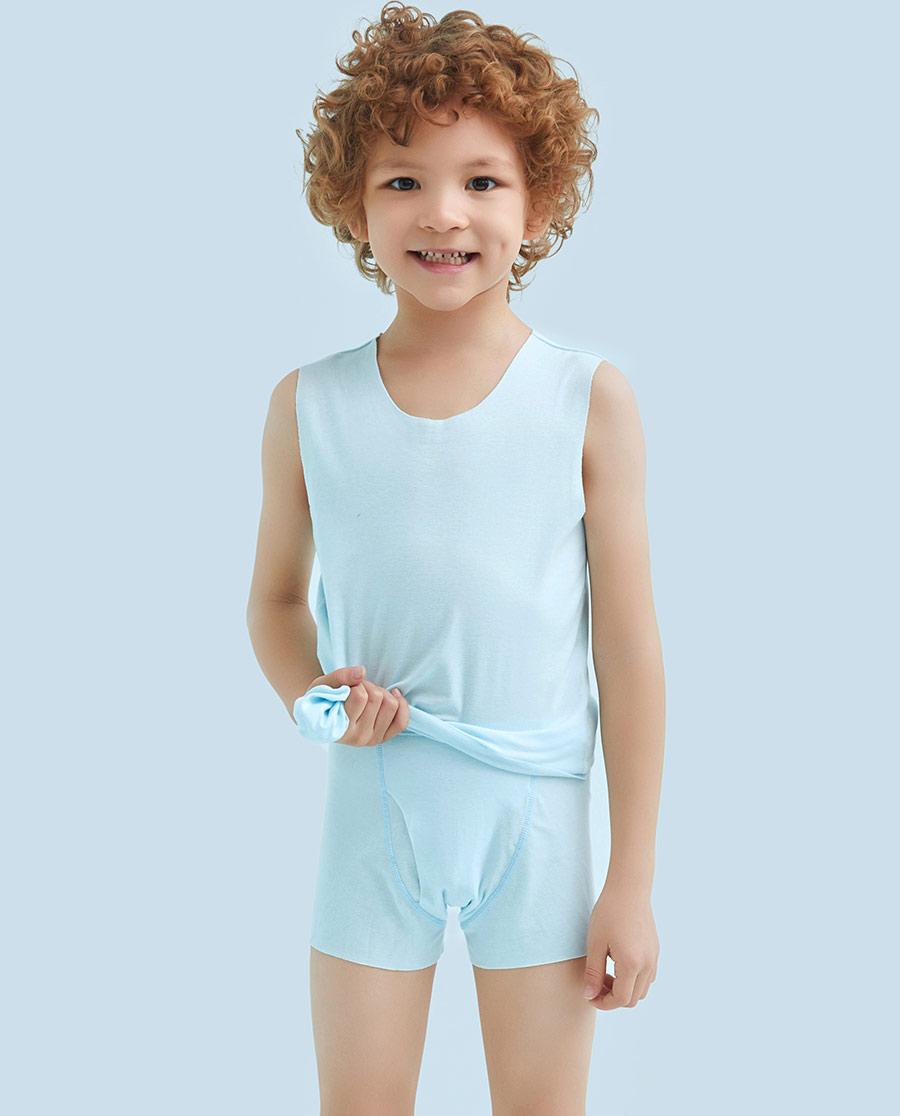 Aimer Kids内裤|ag真人平台儿童棉感男童中腰平角内裤AK2230991
