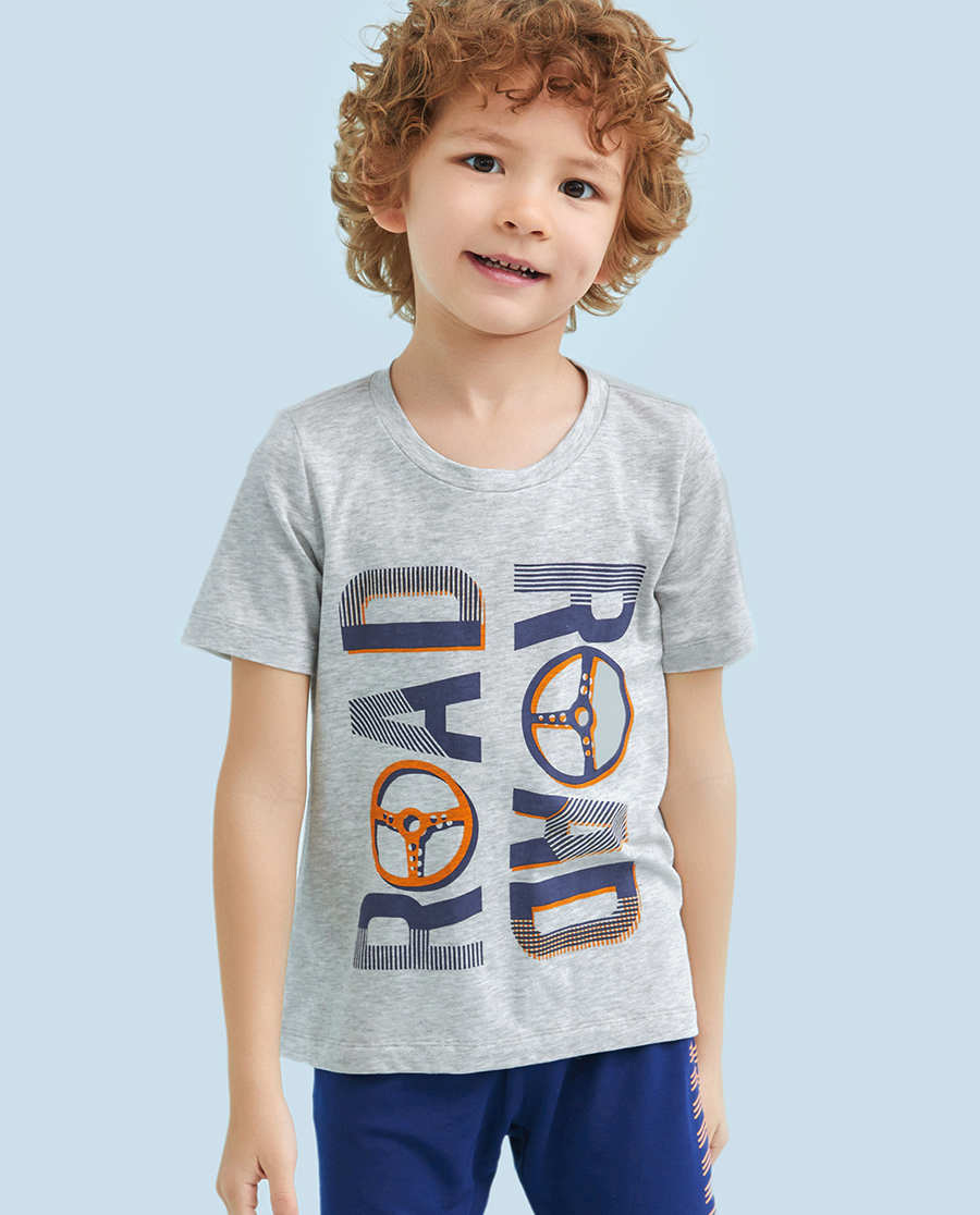 Aimer Kids睡衣|爱慕儿童欢乐驾驶短袖上衣AK2411291