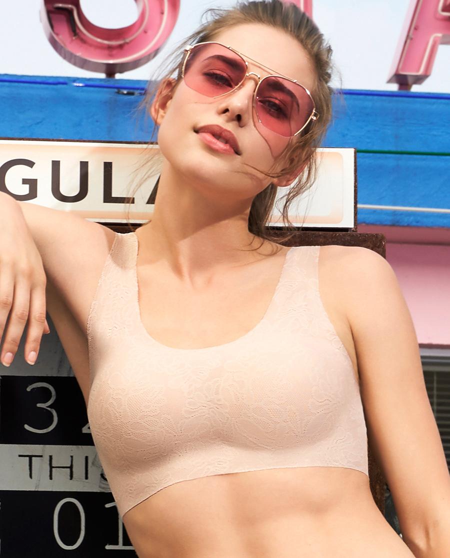 爱慕蕾丝无托背心式文胸AM172691