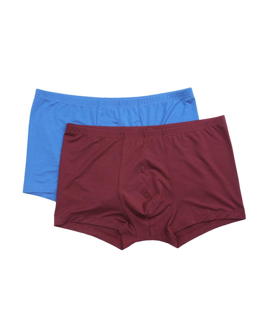 Aimer Men内裤|爱慕先生莫代尔内裤双件包包腰平角内裤NS23C201