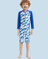 爱慕儿童鲨鱼部落长袖连体泳衣AK2671551